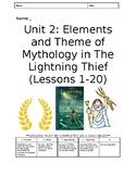 Percy Jackson Lightning Thief Module 1 Unit 2 Worksheets E