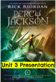 Percy Jackson Lightning Thief Module 1 Unit 3 Presentation