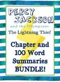 BUNDLE!! Percy Jackson: Lightning Thief - Summaries
