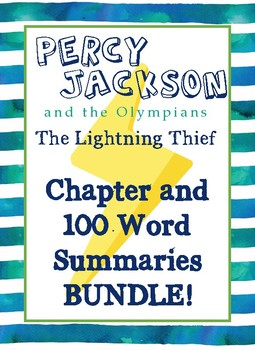 BUNDLE!! Percy Jackson: Lightning Thief - Summaries