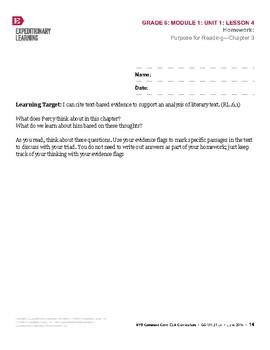 Percy Jackson Mod. 1 Unit 1 Lesson 4