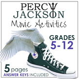 Percy Jackson Movie Activities, Modern Myth Creative Writing, Grades 5-12