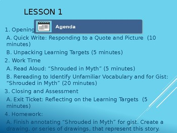 The Lightning Thief NYS Grade 6 Module 1 Power Point