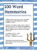 Percy Jackson: Sea of Monsters - 100 Word Summaries
