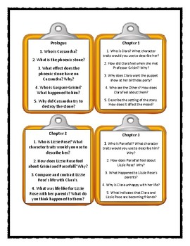 SPLENDORS & GLOOMS by Laura Amy Schlitz - Discussion Cards