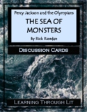 Percy Jackson THE SEA OF MONSTERS by Rick Riordan  - Discussion Cards