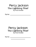 Percy Jackson The Lightning Thief Book club