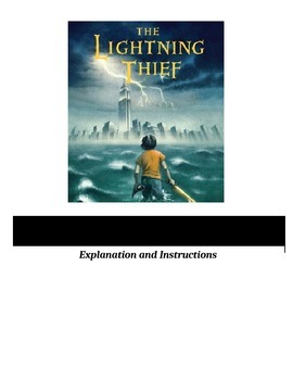 Percy Jackson and the Lightning Thief - Figurative Language Activity