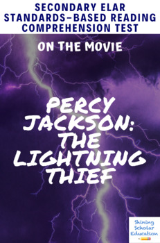 Percy Jackson: The Lightning Thief Movie Guide/Analysis Multiple-Choice Test