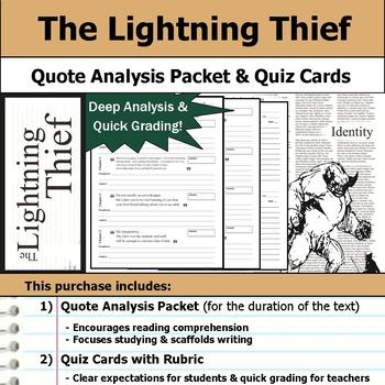 Percy Jackson The Lightning Thief Quote Analysis Reading Quizzes