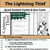 Percy Jackson - The Lightning Thief - Quote Analysis & Reading Quizzes