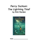 Percy Jackson The Lightning Thief Read Aloud/Book Club Packet