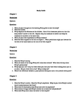 Percy Jackson: The Lightning Thief Study Guide