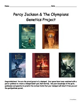 Percy Jackson & The Olympians Genetics Project