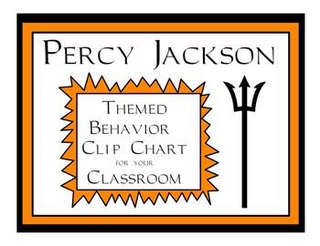 Percy Jackson Themed Behavior Clip Chart