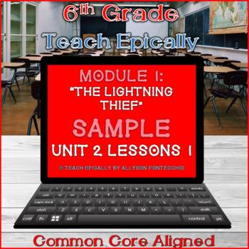 Module 1- Unit 2- Lesson 1- Free Sample- ELA-Vate Utah The Lightning Thief