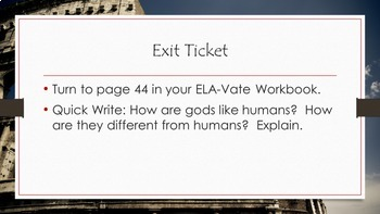 Module 1- Unit 2- Lesson 1- Free Sample- ELA-Vate Utah The Lightning Thief