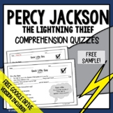 Percy Jackson and The Lightning Thief Comprehension Questions Free Sample