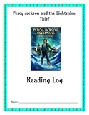 Percy Jackson and the Lightening Thief Reading Log