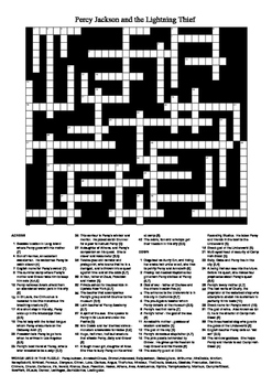 Percy Jackson and the Lightning Thief - Giant Fun Crossword Puzzle