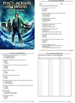 Percy Jackson and the Lightning Thief Movie - 60 Question Multiple Choice Quiz