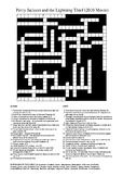 Percy Jackson and the Lightning Thief Movie - Crossword Puzzle