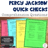 Percy Jackson and the Lightning Thief Novel Study Comprehe