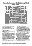 Percy Jackson and the Lightning Thief - Vocabulary Crossword Chapter 1