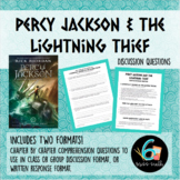 Percy Jackson and the Lightning Thief Written Response and