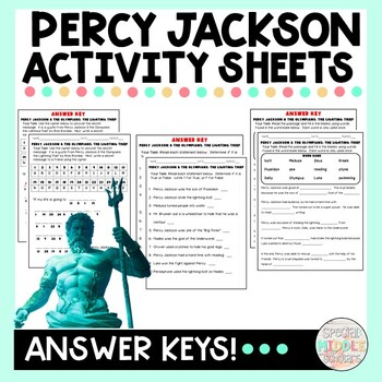 Percy Jackson and the Olympians: the Lightning Thief Movie Activity Worksheets