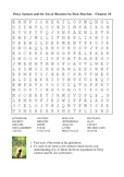 Percy Jackson and the Sea of Monsters - Chapter 20 Word Search
