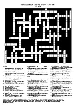 Percy Jackson and the Sea of Monsters - Giant Fun Crossword Puzzle