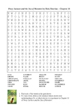 Percy Jackson and the Sea of Monsters - Word Search Chapter 10