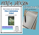 Percy Jackson's the Lightening Thief Journal: Prompts and Vocabulary