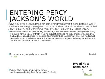 Percy Jackson's (web) quest