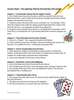 Percy Jackson & the Lightning Thief - Q&A with Vocab and Demigod/god Guide