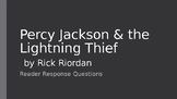 Percy Jackson & the Lightning Thief Reader Response Questions