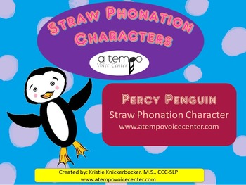 Percy Penguin (Straw Phonation Characters)