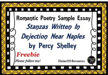 Percy Shelley Sample Essay Stanzas Written in Dejection Near Naples