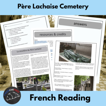 Pere Lachaise - a reading for intermediate/advanced French