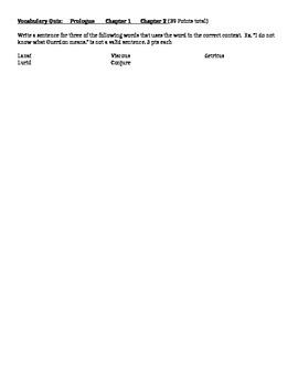 Peregrine Vocabulary Quizzes