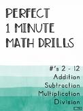 Perfect 1 Minute Math Drills