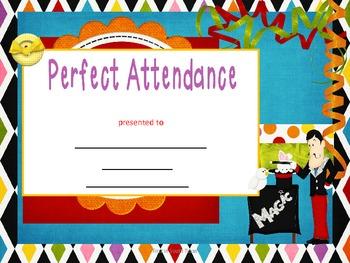 Perfect Attendance Awards