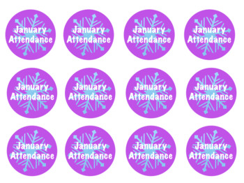 Perfect Attendance Badges