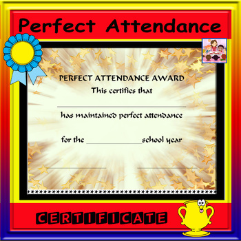 Perfect Attendance Certificate Teaching Resources Teachers Pay