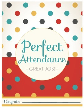 Perfect Attendance Certificate - 70's Style