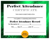 Perfect Attendance Certificate / Award