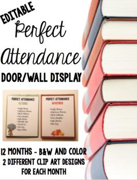 Perfect Attendance Display (Editable) #celebratedeals