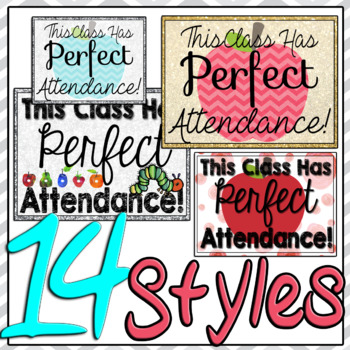 Perfect Attendance Door Signs 14 Styles Mini Posters #HelloSummer