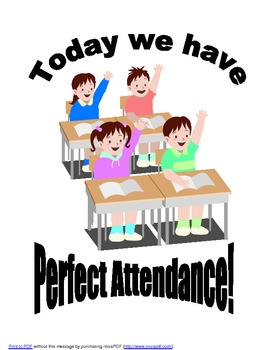 Perfect Attendance Poster